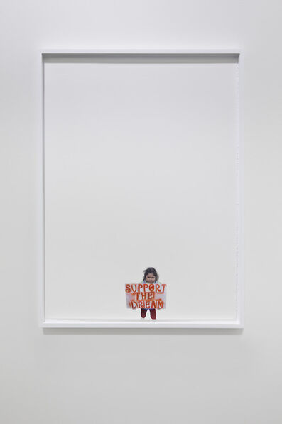 Andrea Bowers, 'Support the Dream (Pass the dream act)', 2013