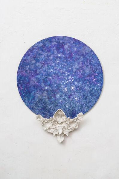 Emiliano Maggi, 'Blue Flower Mirror, diameter cm 90 ', 2019