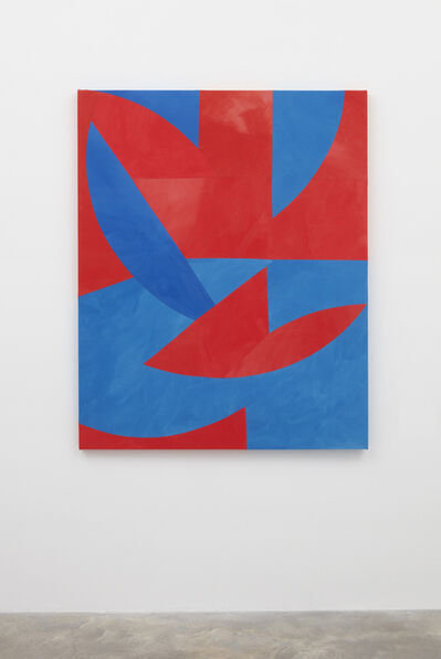 Sarah Crowner, 'Rotating Blue and Red Circles', 2017