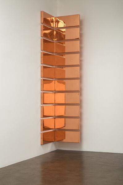 "Walead Beshty, 'Copper Surrogate (60"" x 120"" 48 ounce C11000 Copper Alloy, 90º Bend, 120"" Bisection/10 Sections: ... )', 2015"
