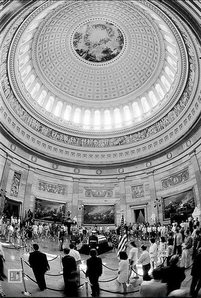 Phil McAuliffe, 'Reagan Memorial At Capitol Rotunda, Washington, DC', 2004