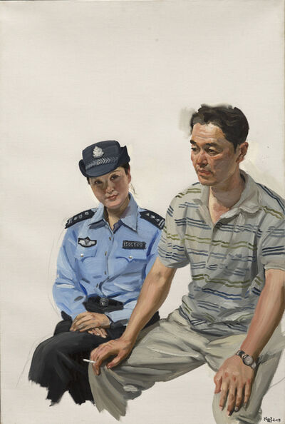 Chen Danqing, 'The guards couple from Inner Mongolia', 2013