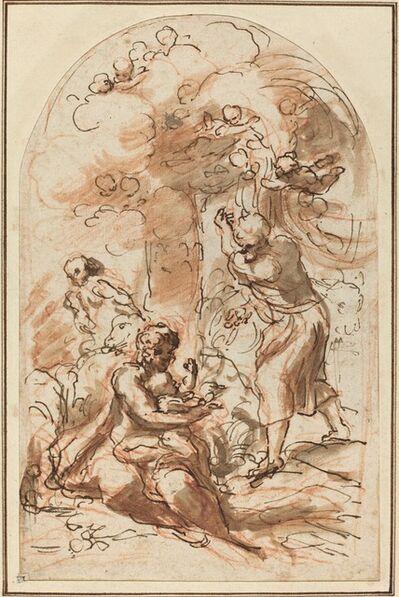 """Correggio, 'Study for the """"Madonna della Scodella"""" [recto]', 1523/1524"""