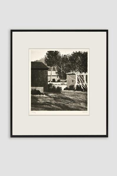 Robert Kipniss, 'Backyard, Sharon Drypoint', 1992