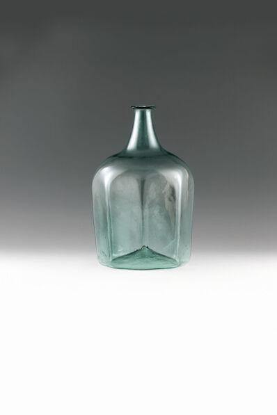 Molded Glass, 'Big storage bottle', Alpine-18th century