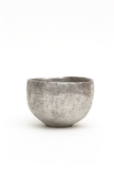 Yasushi Fujihira, 'Tea bowl with silver glaze', 2018