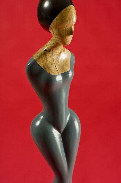 David Hostetler, 'Blue Gown, painted wood sculpture', 2006