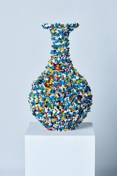 Diederik Schneemann, '2nd Smurf Dynasty ming vase', 2019