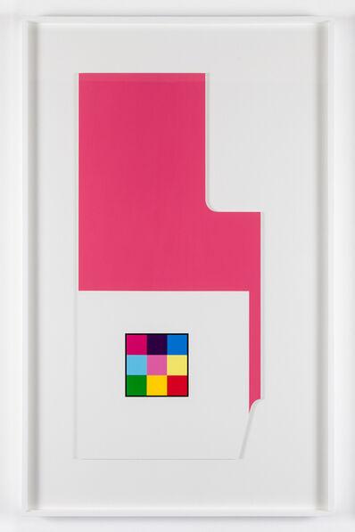 Peter Saville, ''Radius-cut pink white' (from the 'metalanguage' series) ', 1980