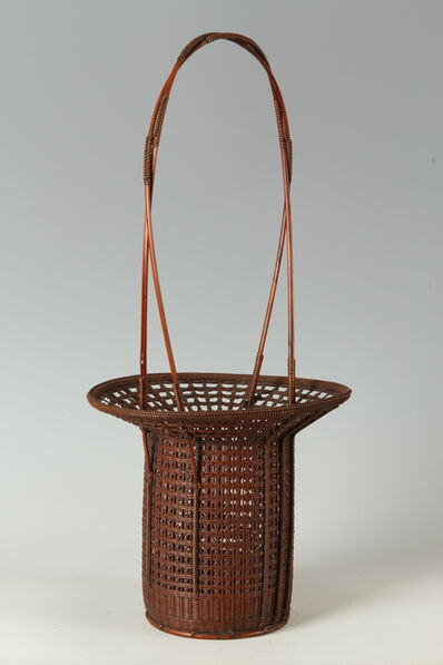 Tanabe Chikuunsai II, 'Tall Handle Basket (T-3444)', Showa era (1926, 89), ca. 1950's