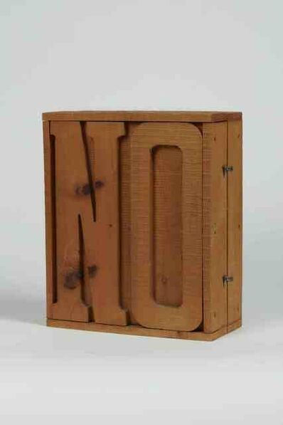 "Mario Ceroli, '""NO""', made in the Sixties"