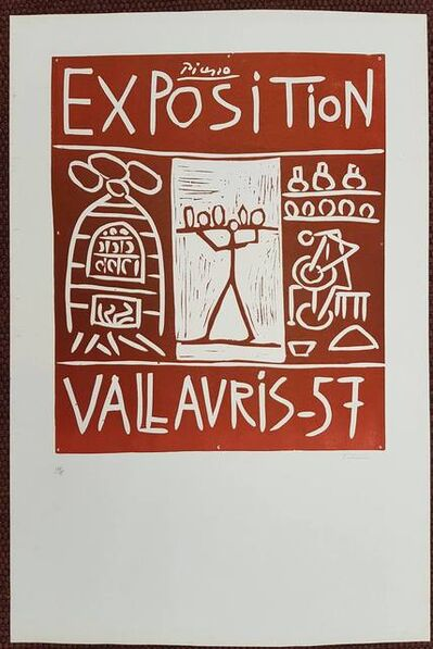 Pablo Picasso, 'Hand signed Linocut - Exposition Vallauris 1957', 1957