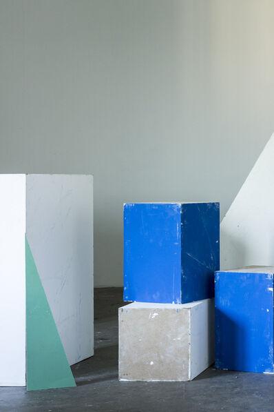 Peter Puklus, '5572, Blue boxes', 2015