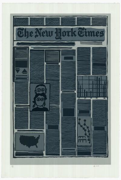 Derek Boshier, 'New York Times Financial Section', 2014