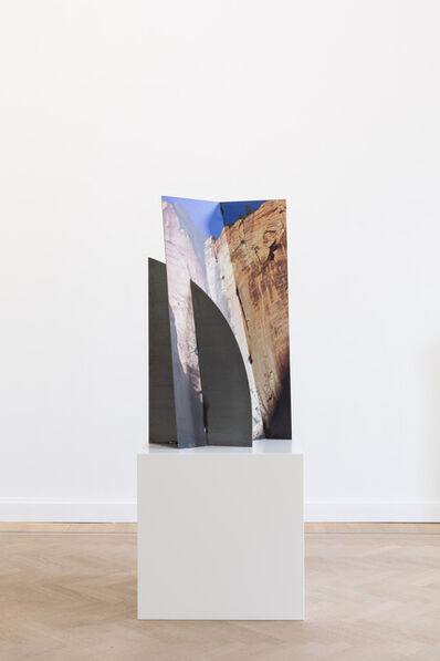 Letha Wilson, 'Zion Canyon Palms Slice Steel', 2019