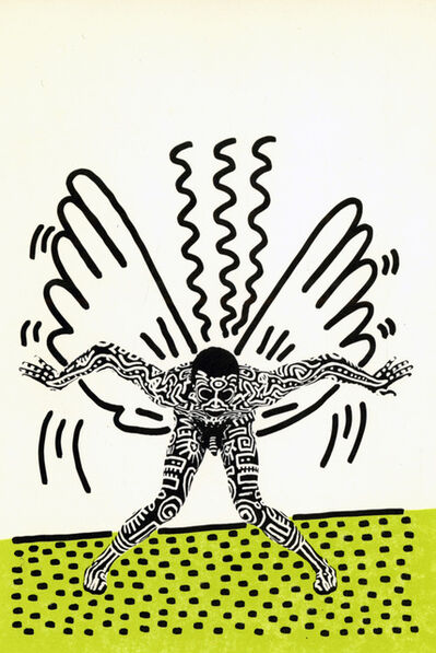 Keith Haring, 'Keith Haring Into 84 (Keith Haring Tony Shafrazi announcement)', 1983