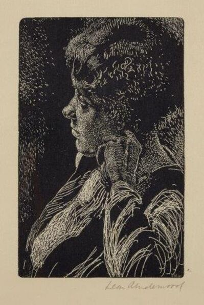 Leon Underwood, 'Portrait of a Young Woman'