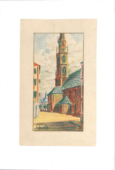 Egon Schiele, 'Kirche von Bozen', 1990