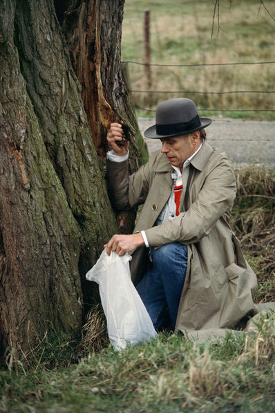 Gerd Ludwig, '#7 - Joseph Beuys collects soil in the Düffel area', 1978