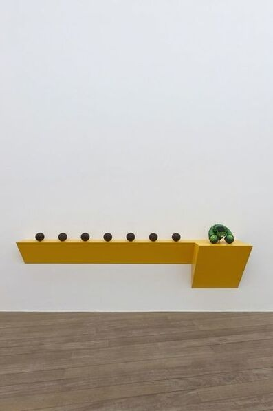 Haim Steinbach, 'Untitled (7 bocce balls, Hulk)', 2012
