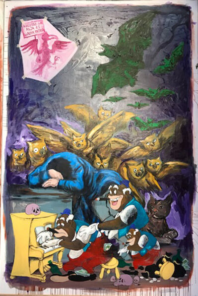 Manuel Ocampo, 'The Monsters of Reason Produces Sleep (after Goya and Tex Avery)', 2017