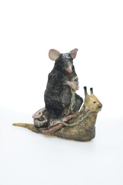 Carolein Smit, 'black rat on a snail', 2018