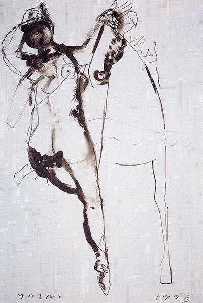 Marino Marini, 'Cavallo e cavaliere (Horse and rider)', 1953