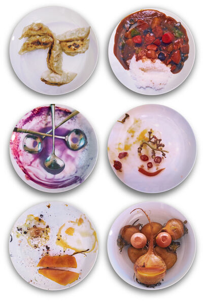 Olaf Breuning, 'ms. dumpling face and others', 2015