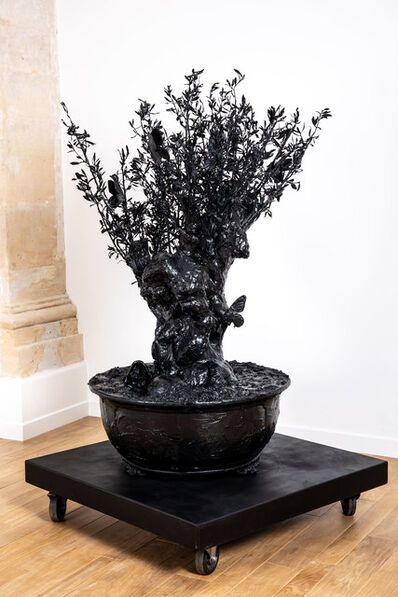 Philippe Pasqua, 'circle black bronze tree with butterflies', 2016