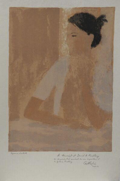 Bernard Cathelin, 'Nu au casaquin blanc', 1973