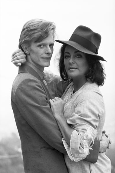 Terry O'Neill, 'David Bowie & Elizabeth Taylor Looking at Each Other', ca. 1975