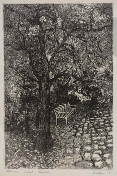 Penny Siopis, 'Park bench', 1977