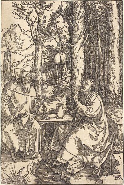 Albrecht Dürer, 'Saint Anthony and Saint Paul in the Wilderness', ca. 1504