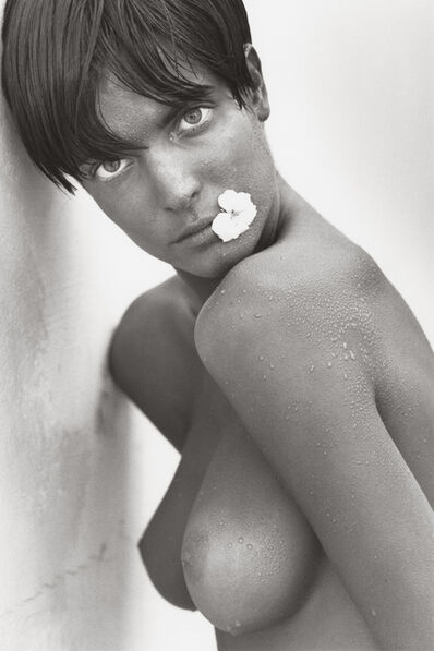 Herb Ritts, 'Stephanie with Flower (c), Los Angeles', 1989