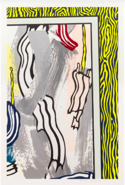 Roy Lichtenstein, 'Paintings on Blue and Yellow Wall', 1984