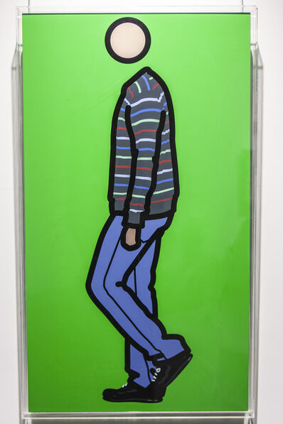 Julian Opie, 'Jeremy walking in stripy jumper 1', 2010