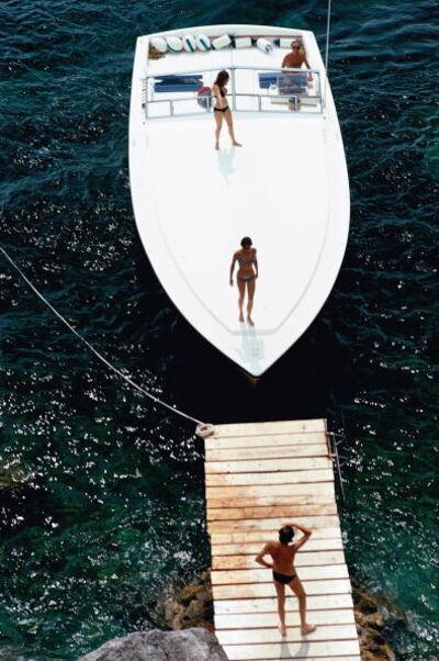 Slim Aarons, 'Speedboat Landing', 1973