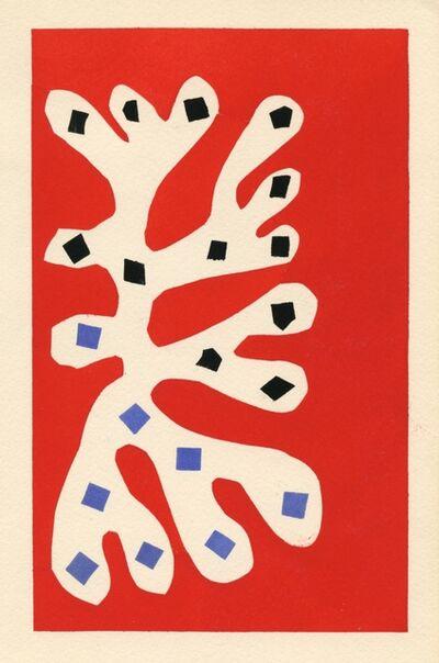 Henri Matisse, 'Algue blanche sur fond rouge', 1953