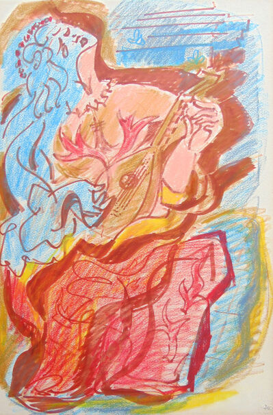 André Masson, 'The Musician', 1970