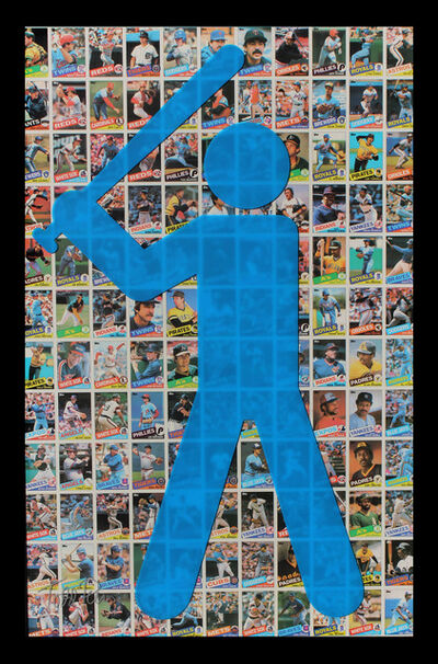 "Todd Pierce, '""Topps 1985 (Blue)""', 2017"
