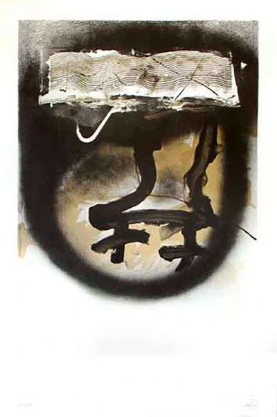 Antoni Tàpies, 'A. L. Exposition Tàpies 1', 1983