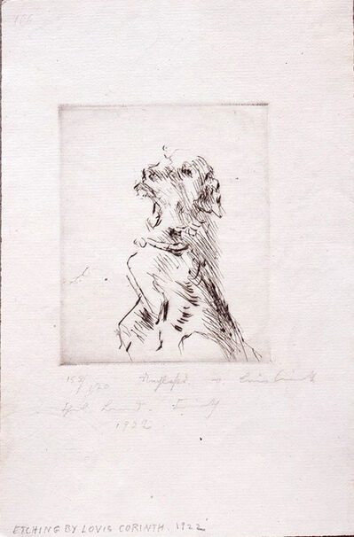 Lovis Corinth, 'Dog', 1922