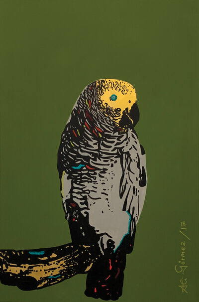 ALI GORMEZ, 'Parrot in green', 2017