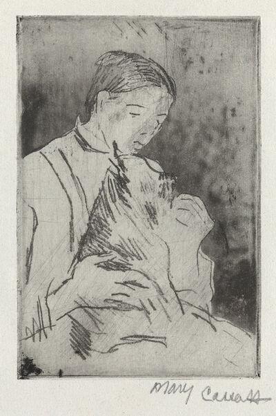 Mary Cassatt, 'Mathilde Feeding a Dog (No. 2)', Circa 1884