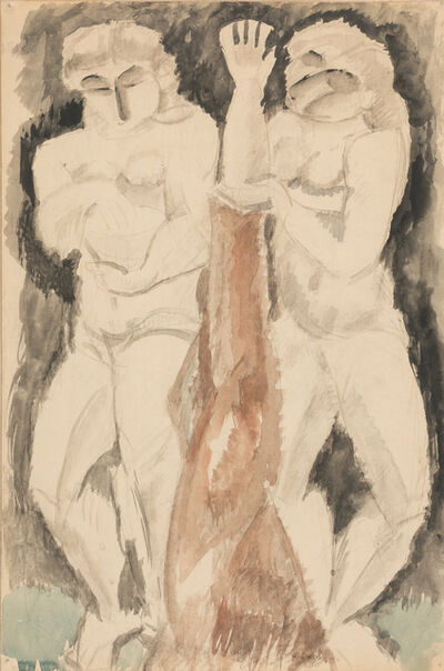 Max Weber, 'Two Figures', 1912