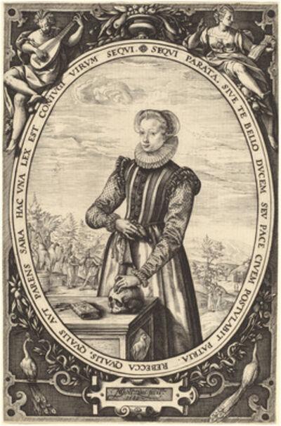 Hendrik Goltzius, 'Cornelia van de Capelle', 1589