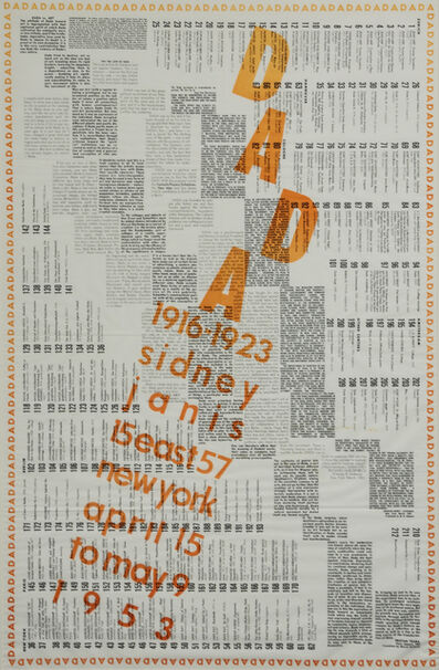 Marcel Duchamp, 'Dada 1916-1923 (exhibition poster)', 1953