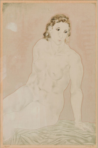 Léonard Tsugouharu Foujita, 'Nu assis, from the album Femmes', 1930