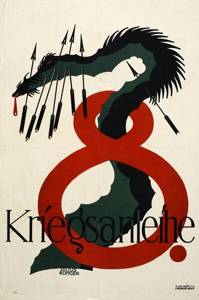 Julius Klinger, 'Poster for the Eighth War Bond', 1918