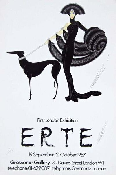 Erté (Romain de Tirtoff), 'Symphony in Black', 1967
